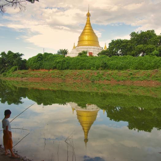 jeunes pêcheurs à imwa, Birmanie